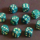 15mm Interferenz Spot Dice - Green
